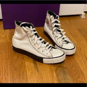 White High Top Converse 8